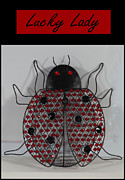 Good Luck Prints - Lady Luck - Lady Bug Beetle - Decoration2 Print by Barbara Griffin
