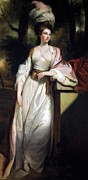 Silk Paintings - Lady Mary Isabella Somerset by Robert Smirke