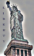 Broadway Digital Art Metal Prints - LADY of LIBERTY Metal Print by Linda  Parker
