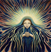 Spiritual Portrait Of Woman Prints - Lady of Light Print by Lyn Pacificar