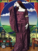 Pre-raphaelites Digital Art Prints - Lady of Shallot Print by Andrew Harrison
