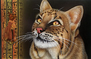 Bobcat Paintings - Lady of the East by Jeroen Van Neijhof