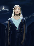 Lord Of The Rings Digital Art Posters - Lady of the Galadrim Poster by Andrew Harrison