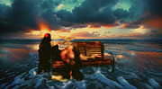 Lady Of The Ocean Print by Zeana Romanovna