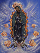 Holy Paintings - Lady of the Roses by Ricardo Chavez-Mendez