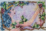 Zinfandel Posters - Lady of the VIne Poster by Carol Losinski Naylor