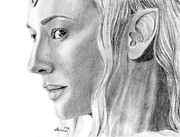 Elf Drawings - Lady of the Wood by Kayleigh Semeniuk
