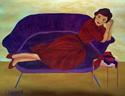 Christy Brammer - Lady on Purple Couch