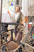 Buccaneer Photo Posters - Lady Pirate of Penzance Poster by Terri  Waters