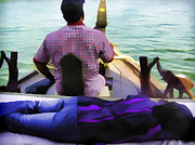 Indian Photos - Lady sleeping while boatman steers by Ashish Agarwal