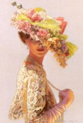 Flowers Pastels Prints - Lady Victoria Victorian Elegance Print by Sue Halstenberg
