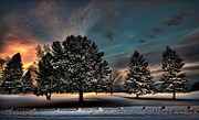 Evening Scenes Posters - Lady winter  bringing a cold snap Poster by Jeff S PhotoArt