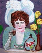 Great Western Painting Originals - Lady with Yellow Roses by Buddy Paul