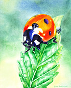 Covers Painting Prints - Ladybug Ladybug Where Is Your Home Print by Irina Sztukowski