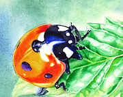Iphone Covers Prints - Ladybug On The Leaf Print by Irina Sztukowski