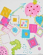 Children Tapestries - Textiles - Ladybugs by PainterArtist FIN