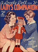 Featured Acrylic Prints - Ladys Companion 1930s Uk Dolls Acrylic Print by The Advertising Archives