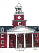 Historic Buildings Drawings Mixed Media - Lafayette College by Frederic Kohli