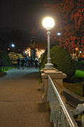 Boston Common Prints - Lagoon Bridge Lights Print by Joann Vitali