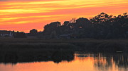 Large Format Prints - Lagoon Sunset 2 Print by Jan Cipolla