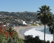 Heisler Park Framed Prints - Laguna Beach - Main Beach  Framed Print by Kristy  Morris