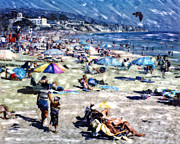 The Hills Mixed Media Originals - Laguna Beach by Glenn McNary