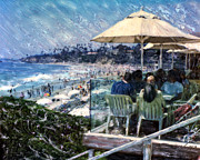 The Hills Mixed Media Originals - Laguna Beach Hotel Afternoon by Glenn McNary