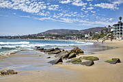 Sandy Beaches Framed Prints - Laguna Beach Framed Print by Kelley King
