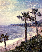 The Hills Mixed Media Originals - Laguna Beach Palm Vista by Glenn McNary