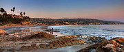 Tide Pools Framed Prints - Laguna Beach Panorama Framed Print by Eddie Yerkish