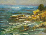 Heisler Park Paintings - Laguna Coast View by Luz Perez