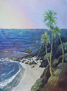 Heisler Park Paintings - Laguna by Nancy Goldman