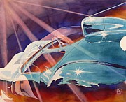 Automobilia Prints - Laguna Print by Robert Hooper