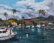 Court House Framed Prints - Lahaina Harbor Framed Print by Darice Machel McGuire