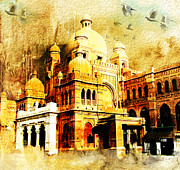 College Buildings Prints - Lahore Museum Print by Catf