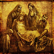 Sculptures Digital Art Posters - Laid_in_the_Tomb Via Dolorosa 14 Poster by Lianne Schneider