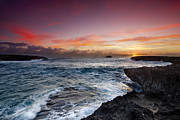 Ocean Photography Posters - Laie Point Sunrise Poster by Sean Davey