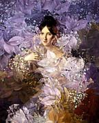 Laila - Des Femmes Et Des Fleurs Print by Aimelle