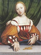 Courtesans Art - Lais of Corinth by Hans Holbein the Younger