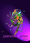 Jester Mixed Media Framed Prints - Laissez les Bon Temps Rouler Framed Print by Lizi Beard-Ward