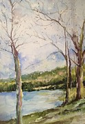 Arkansas Paintings - Lake #1 North Little Rock by Robin Miller-Bookhout