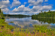 Lakes Art - Lake Abanakee in Indian Lake New York by David Patterson