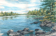 Nature Scene Originals - Lake Along the Gunflint Trail by Kerry Kupferschmidt