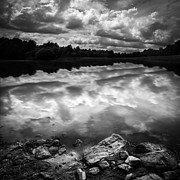 Lake Auburn Twilight Print by Bob Orsillo