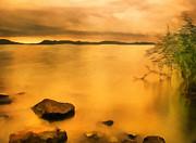 Lake Balaton Sunset Paint Print by Odon Czintos