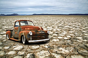 White Walls Framed Prints - Lake Bed Chevy Framed Print by Steve McKinzie