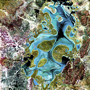 Nasa Art - Lake Carnegie Western Australia by Adam Romanowicz
