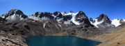 Latin America Photos - Lake Chiarkota and Mt Condoriri range by James Brunker