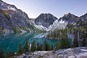 Leavenworth Photos - Lake Colchuck Sunrise by Mike Reid