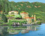 Waterscape Painting Metal Prints - Lake Como Morning Metal Print by Jane Girardot